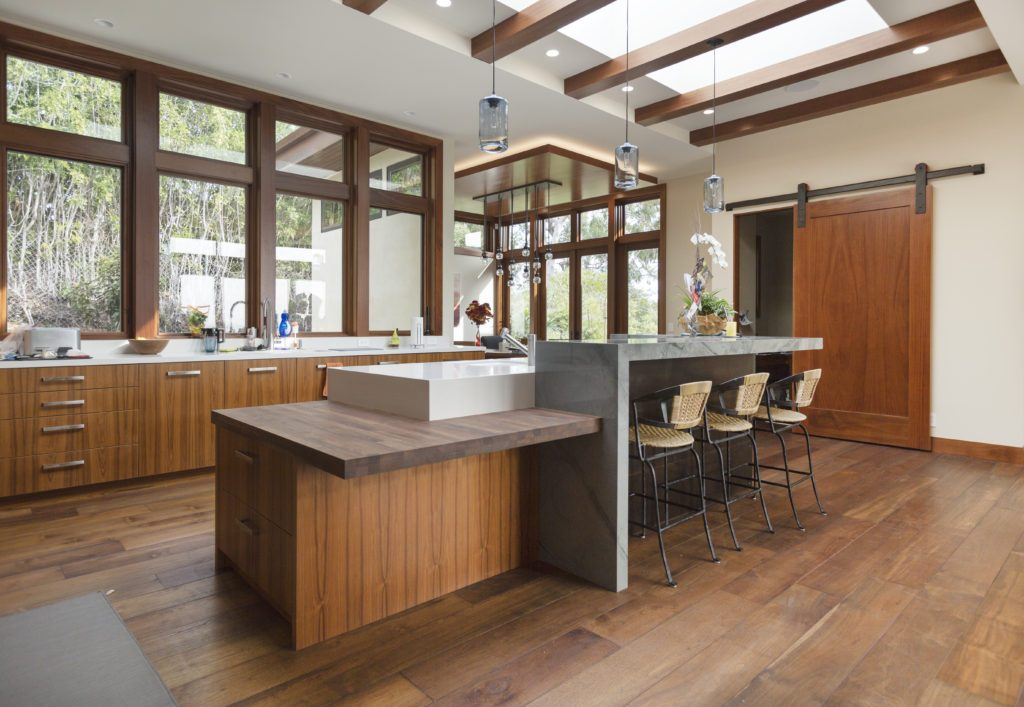 With The Beautiful Wood Beams On The Ceiling, The Flooring And Cabinets  Made Of Reclaimed Teak From Indoteak Design Add The Perfect Feel To The  Finished ...