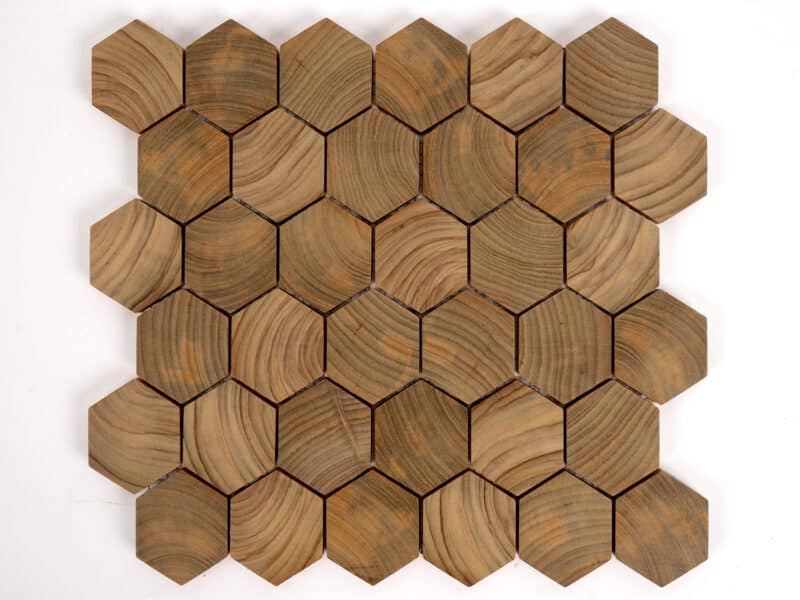 Hexagon EndGrain Mosaic